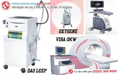 1 số thiết bị máy móc của bệnh viện phụ khoa Phượng Đỏ
